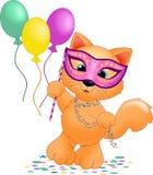 Mardi Gras Cat Stock Image