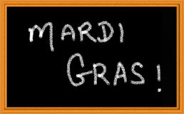 Mardi Gras on Chalkboard Royalty Free Stock Photos
