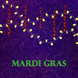 Mardi Gras colorful background with garland. Mardi Gras colorful background with bright garland. Vector illustration for your different design Stock Images