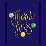 Mardi Gras con la máscara Imagen de archivo