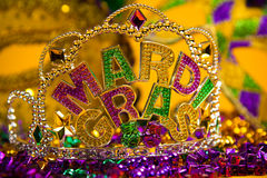 Mardi Gras crown decoration Royalty Free Stock Photo