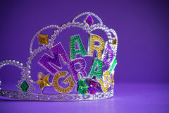 Mardi Gras crown decoration Stock Photo