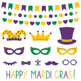 Mardi Gras decoration and photo booth props Royalty Free Stock Photo