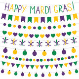 Mardi Gras decoration set Royalty Free Stock Image
