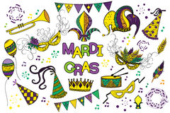 Mardi Gras design element Stock Photos