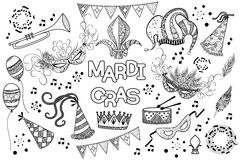 Mardi Gras design element Royalty Free Stock Images