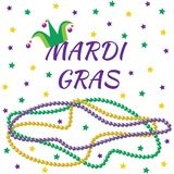 Mardi Gras design elements. In tradition colors Royalty Free Stock Photography