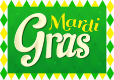 Mardi Gras design for fat thursday with green colors Stock Photography