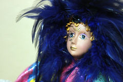 Mardi Gras Doll Photo libre de droits
