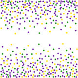 Mardi Gras dot background. Stock Photography
