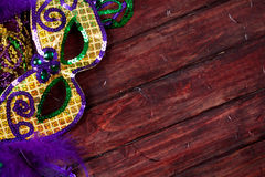 Mardi Gras: Fancy Feathered And Sequined Party Mask Stock Photo
