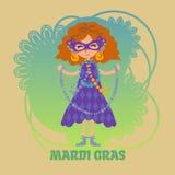 Mardi Gras-Feier Stockbild
