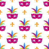 Mardi Gras Festival Mask Vector Wrapping Paper royalty free stock photos