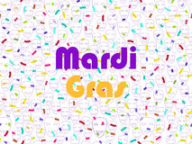 Mardi gras. Festive seamless pattern with confetti and masquerade masks. Vector Royalty Free Stock Images
