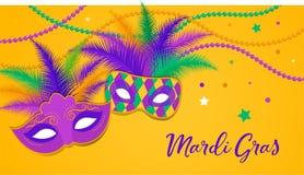 Mardi Gras - fet mall för tisdag karnevalberöm vektor illustrationer