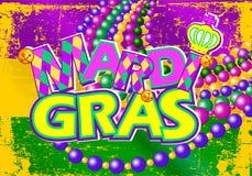 Mardi Gras flagga Arkivbild
