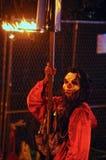 Mardi Gras Flambeaux royaltyfri foto