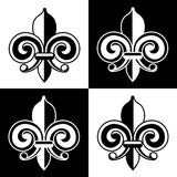 Mardi Gras Fleur de lis repeating pattern 2 Royalty Free Stock Image