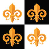 Mardi Gras Fleur de lis repeating pattern Stock Photography