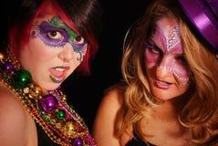 Mardi Gras flickor royaltyfri foto