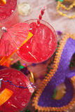 Mardi Gras: Focus On Festive Hurricane Cocktail Stock Images
