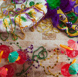 Mardi Gras: Fun Fat Tuesday Party Items Royalty Free Stock Images