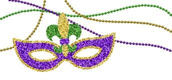Mardi Gras garnering stock illustrationer
