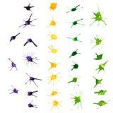 Mardi Gras-Gestaltungselemente Aquarellflecken Lizenzfreies Stockfoto