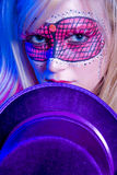 Mardi Gras Girl Stock Images