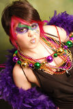 Mardi Gras Girl Royalty Free Stock Image