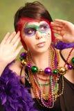 Mardi Gras Girl Stock Photography