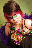 Mardi Gras Girl Royalty Free Stock Photography
