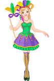 Mardi Gras girl Stock Photography