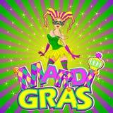 Mardi Gras Girl Design Royalty-vrije Stock Fotografie