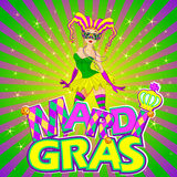 Mardi Gras Girl Design Royalty Free Stock Photography