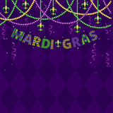 Mardi gras greetings vector illustration