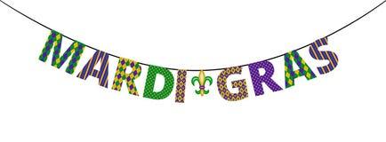 Mardi gras greetings Stock Photography