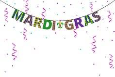 Mardi gras greetings Royalty Free Stock Image