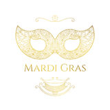 Mardi Gras hälsningkort Arkivfoto