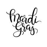 Mardi Gras Hand Lettering Inscription Calligraphie moderne Images stock