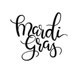 Mardi Gras Hand Lettering Inscription. Modern Calligraphy. Stock Images