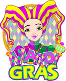 Mardi Gras harlequin design Stock Photo