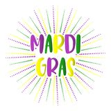 Mardi Gras holiday background with colorful letters. Vector temp. Mardi Gras holiday background with colorful letters. Vector greeting card or poster design Stock Photography