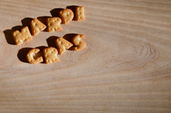 Mardi Gras Hoop van eetbare brieven Stock Fotografie