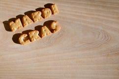 Mardi Gras Hoop van eetbare brieven Stock Afbeeldingen