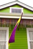 Mardi Gras House Detail Arkivbilder