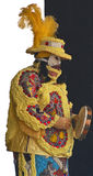 Mardi Gras Indian With Phantom of the Opera Costume. A group of African Americans have the title of Mardi Gras Indians.  They create elaborate costumes, new Royalty Free Stock Images