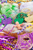 Mardi gras king cake Stock Photo
