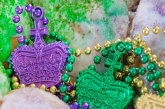 Mardi gras king cake Royalty Free Stock Images