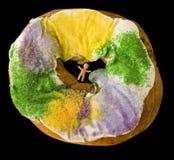 Mardi Gras King Cake Royalty Free Stock Photography